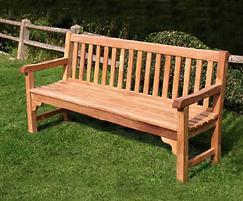 Bloomsbury heavy-duty teak bench, 1800mm version