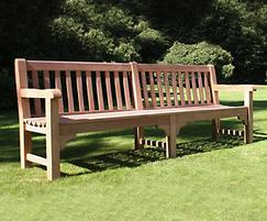 Bloomsbury heavy-duty teak bench, 2400mm version