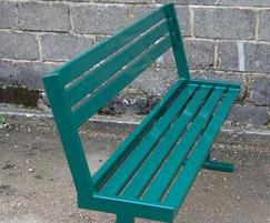 Upland bench with backrest