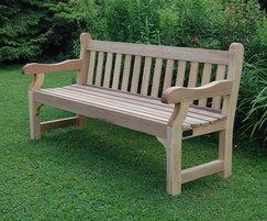Westminster untreated iroko hardwood seat - 1.8m