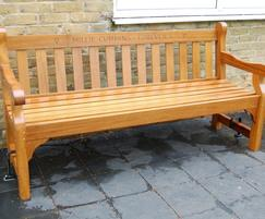 1.8m Westminster bench - with engraving