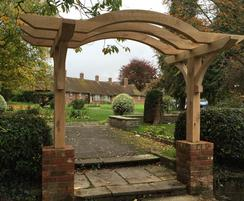 Remembrance garden oak archway