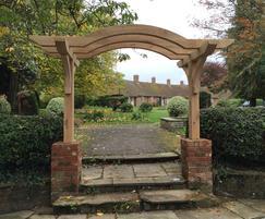 Oak archway at remembrance garden, Basingstoke