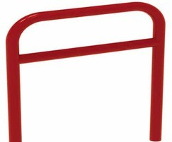 Reinforced Sheffield cycle stand in red