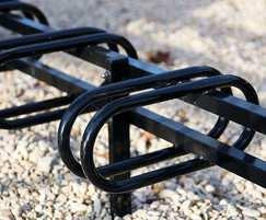 Integrated bike racks for 6 cycles