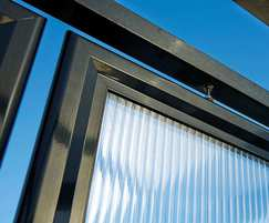 Aluminium frame and polycarbonate glazing