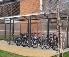 Voute cycle shelter with additional extension units