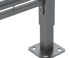 Steel baseplate for shelter