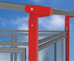 Galvanised and powder coated frame
