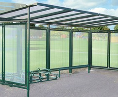 Conviviale steel cycle shelter