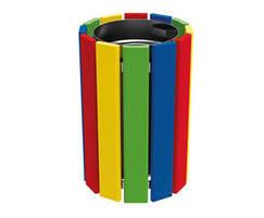 Cologne litter bin in multi colour finish
