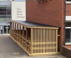 Outdoor shelter for Sixth Form College