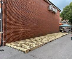 Deck frame construction