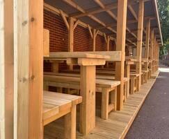 8-bay outdoor classroom for All Hallows School