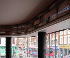 Bespoke copper panels, Queens Theatre, London