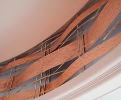 Bespoke decorative copper panels for theatre