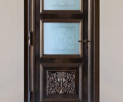 Decorative bronze door