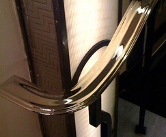 Bespoke handrail, steel and brass, Claridges