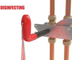 In-line Thermal Disinfection Unit Disinfecting position