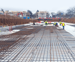 Steel reinforcement for waterproof concrete
