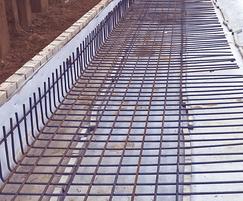 Steel reinforcement for structural waterproofing