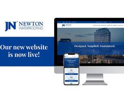 Newton Waterproofing: Newton's new high-performance website goes live