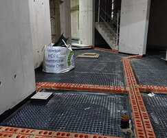 The massive new-build basement spans 2 storeys
