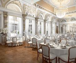 Artists impression of luxury ballroom