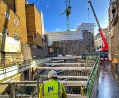 Large-scale London waterproofing site