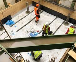 External waterproofing applied in basement excavation