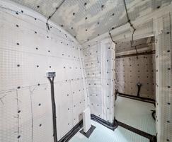 Cavity drain membrane waterproof protection