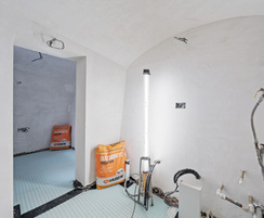 Finished walls with eco-plaster