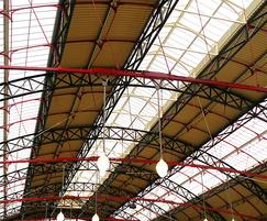 Traditional patent glazing, Victoria Railway Station