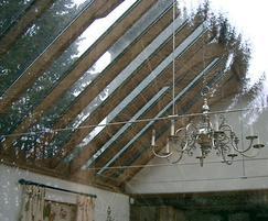 Non-structural Rafterline patent glazing bars