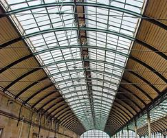 Traditional patent glazing, Hull Paragon Station