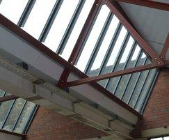 Patent glazing system - Sunny Bank Mills, Farsley