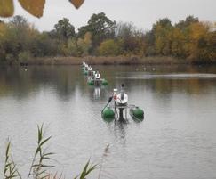 Float-mounted spiral aerators