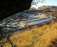 Aeration ditch, c/w 2 Rotex brush aerators