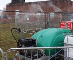 Temporary odour suppression, stormwater tank cleaning