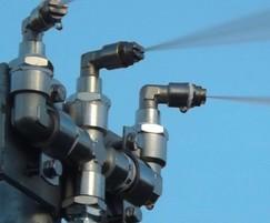 DustLayer's flat-fan spray nozzles