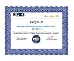 Corgin: Corgin gains PICS accreditation