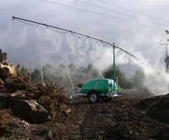 Mobile dust and odour suppression for large areas