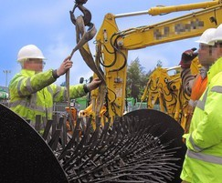 Rotex brush aerator being installed