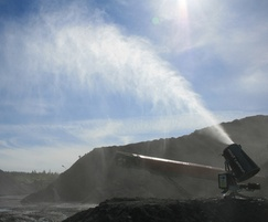 MistCannon suppressing dust at a coal loading site