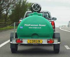 MistCannon Rover: trailer mounted dust suppression unit