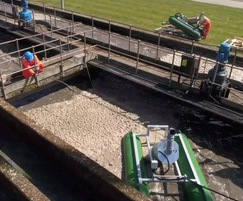 The equipment is used with existing surface aerators