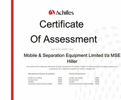 MSE Hiller: MSE Hiller achieves 100% rating for Achilles UVDB