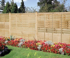 Professional grade lap panel timber fencing, green