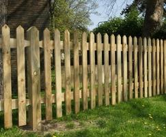 900 high timber palisade fencing - green