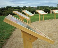 Musketeer Range interpretation lecterns in oak